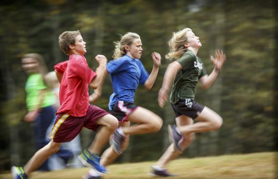 adolescents, running
